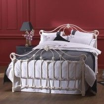 Albany Cast Bed Head - Queen Size Glossy Ivory