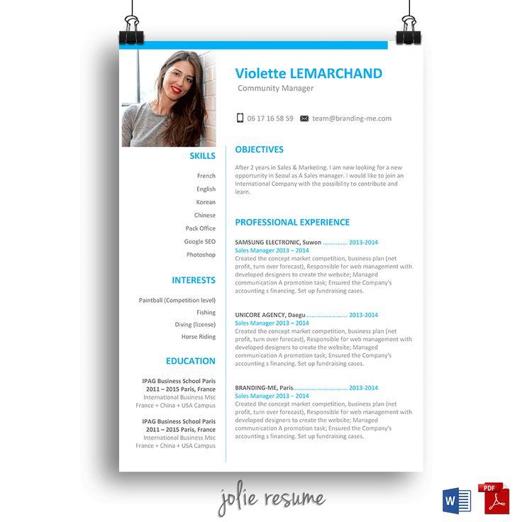 18 best Jolie resume images on Pinterest Creative resume templates - resume templates website