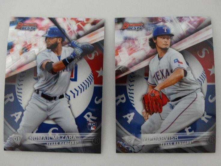 2016 Bowman's Best Texas Rangers Team Set 2 Baseball Cards  #BowmansBest #TexasRangers