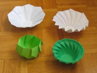 Оригами вазы из одного листа