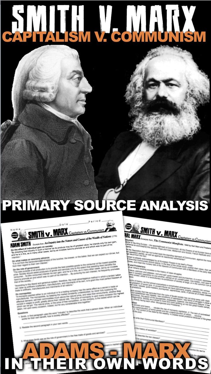 Adam Smith vs Karl Marx Primary Source Activity teaches students about the two competing economic theories that rocked the mid 19th century. This activity begins with Smith's discussion of the effect of the individual on the economy and its advancement, as well as the role of government and monopolies in the free market system. Marx responds with the history of the Bourgeois and Proletarians and his criticism of capitalism, as well as Marx's opinion on the role of government. Excerpts come…