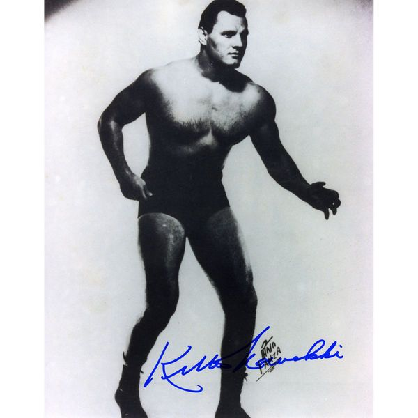 "Killer Kowalski Fanatics Authentic Autographed 8"" x 10"" Black and White Photograph - $8.99"