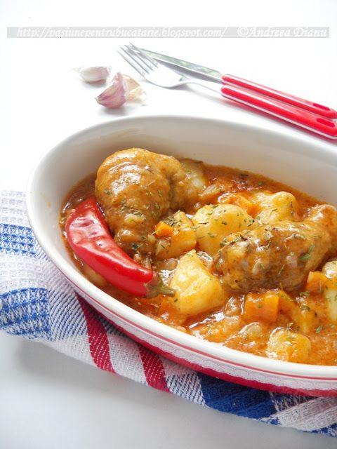 Tocanita de pui cu cartofi | Pasiune pentru bucatarie