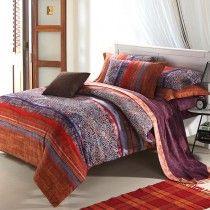 Bohemian Comforter Bedding Set | Orange Bedding, Bright Orange Bedding, Burnt Orange Bedding Sets ...