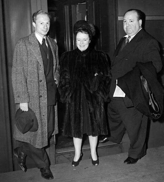 Alma with Norman Lloyd & Hitch