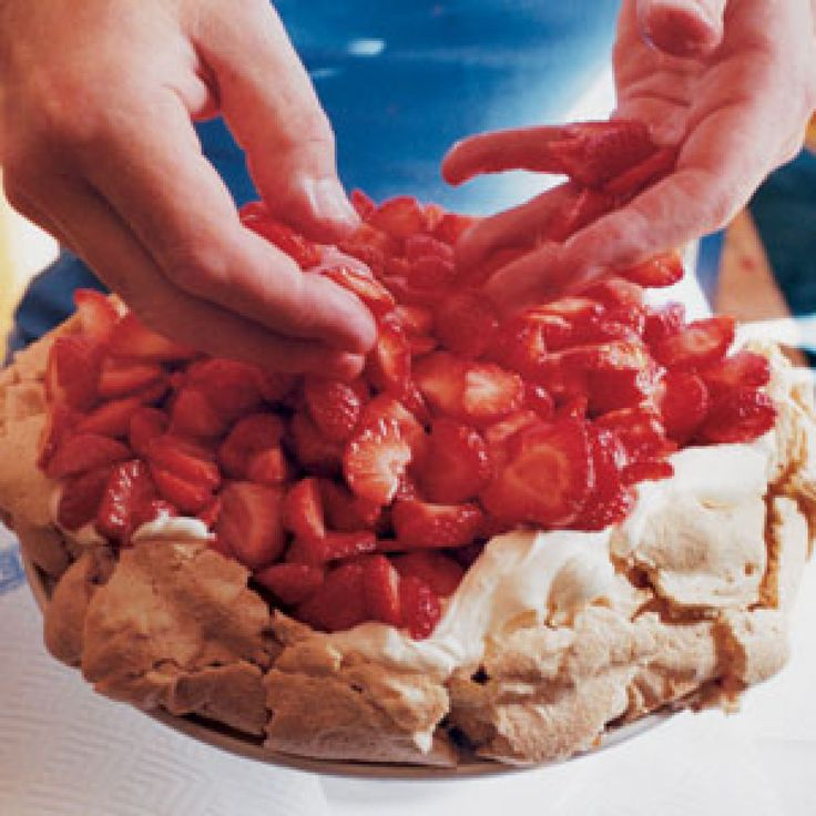 Strawberry and Hazelnut Meringue Cake Recipe | SAVEUR