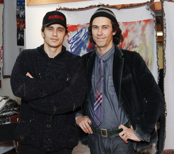 James and Tom Franco hold a reception at the Firehouse Collective.