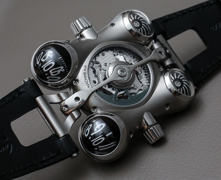 "HM6 Space Pirate is the latest thrilling ride from MB&F. ""Horological Machine Number 6"" uses both highly polished titanium as well as a more satin-finished version of the metal."
