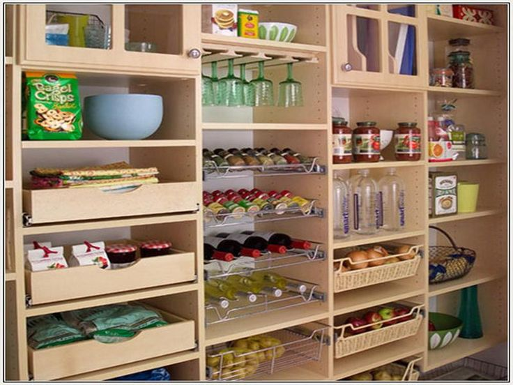 Sliding Drawers And Tray Storage For Pantry