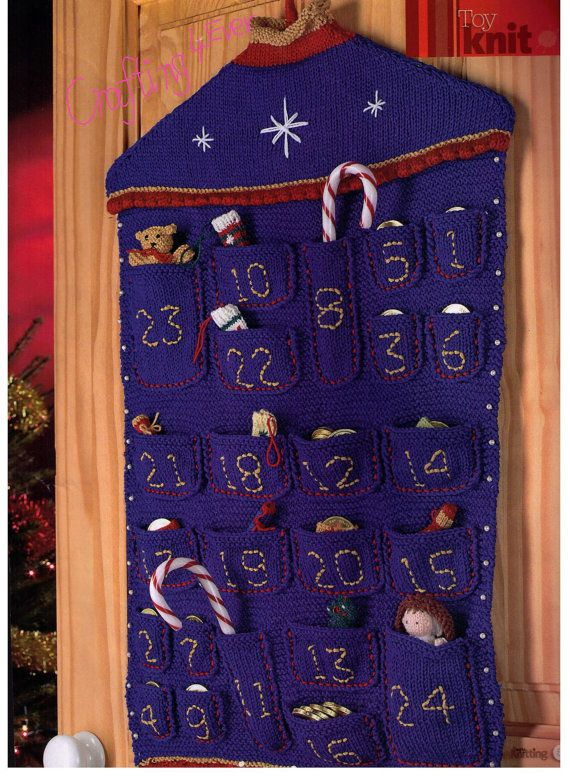 CHRISTMAS CuTE ADVENT CALeNDAR WiTH aLL 24 by Crafting4Ever2013, $4.00 INSTANT DOWNLOAD KNITTING PATTERN ONLY