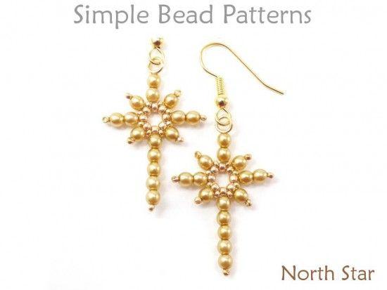 Diy Christmas Jewelry Beaded Star Necklace Earrings Beading