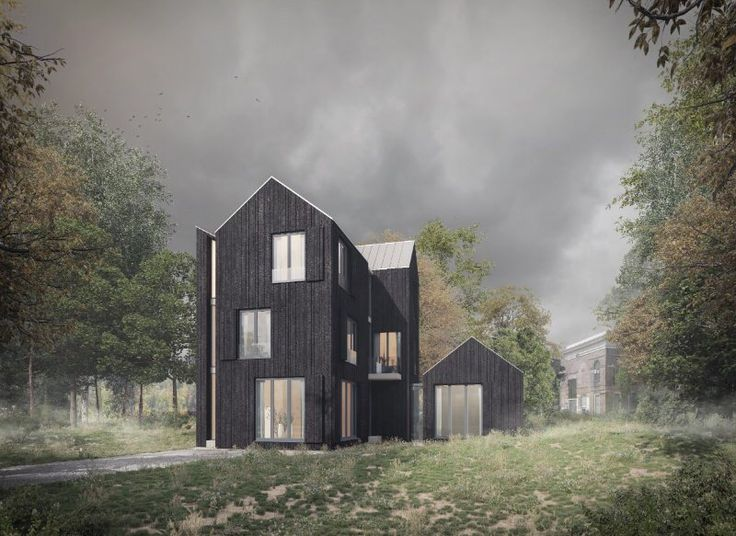 Plans for a new villa in blackend wood on the Brederodelaan in Bloemendaal.