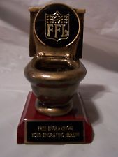 nfl             toilet | fantasy football toilet bowl last place trophy award $ 14