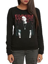 HOTTOPIC.COM - Eminem Repeated Logo Girls Pullover Top