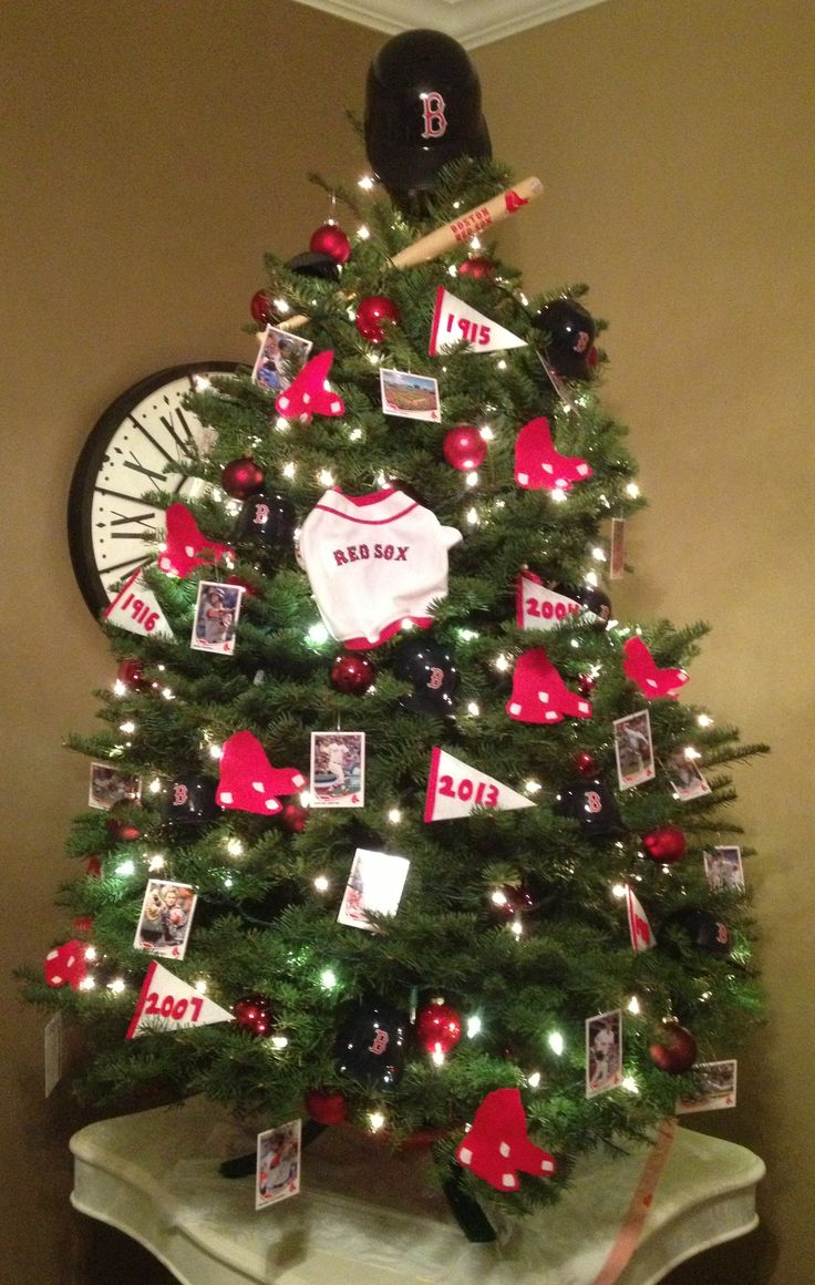 Red Sox Christmas Tree. #redsox #bostonstrong