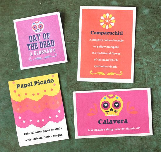 Short Day of the Dead glossary. Dia de los Muertos terms & traditions.