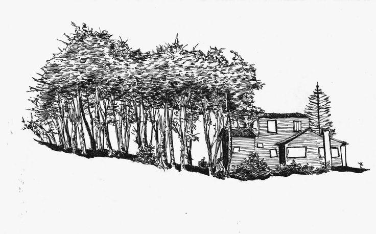 Urban Sketchers Chile: Casas con vista al mar (15/02/2015 – 20/02/2015)  por Patricio Vargas.
