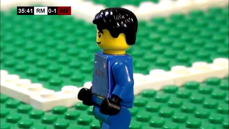 Champions League Final 2014 in LEGO (Real Madrid v Atletico Madrid) - Lego Football - Weevil888