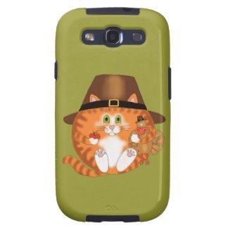 Bauble Cat Thanksgiving Galaxy S3 Cover