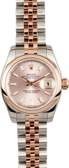 Ladies Rolex DateJust Rose Gold - Free Shipping, no sales tax!