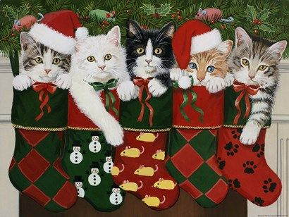 Christmas Kittens by William Vanderdasson