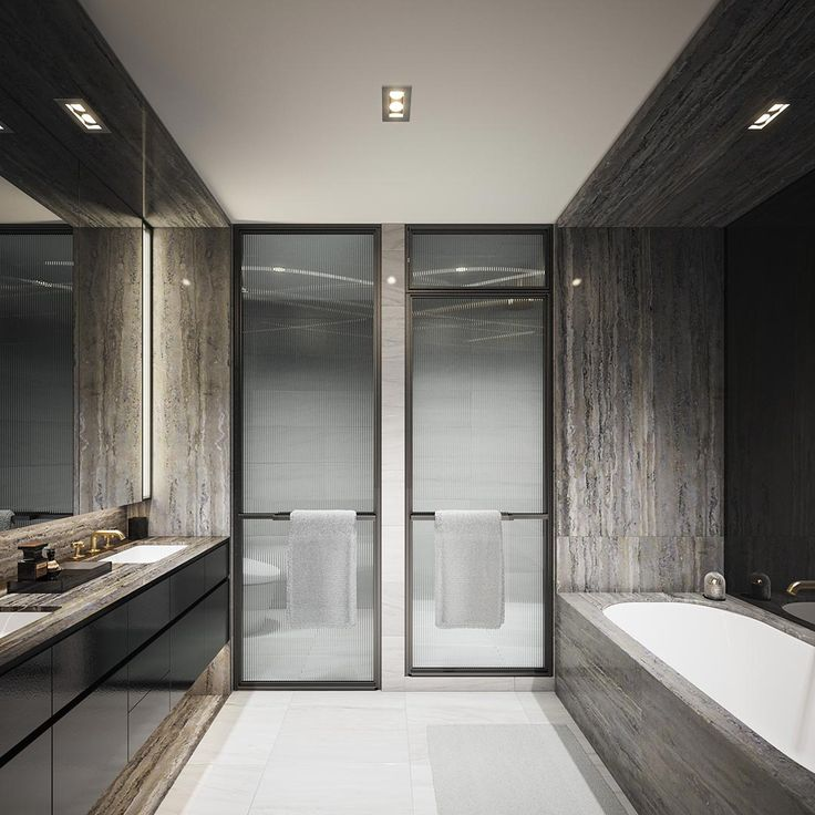 The epitome of modern contemporary bathrooms. Why do you think? #modernbathroom #bathroomremodel