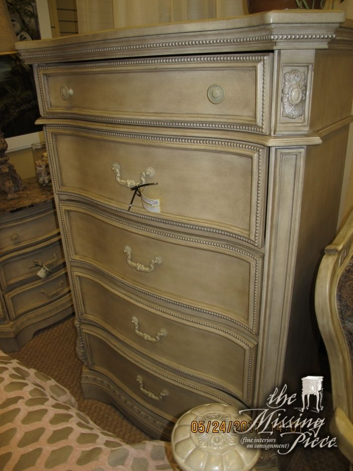 Five drawer chest by Ashley Furniture measuring 41*20*58. Matching nightstands, bed, dresser and mirror and chair here at time of posting.