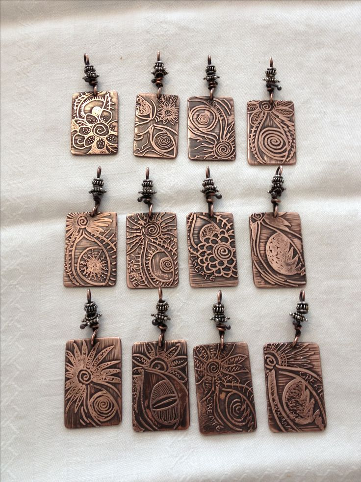 My new etched pendants