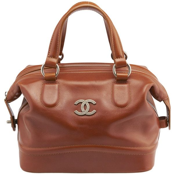 Pre-Owned Chanel Brown Leather Satchel ($1,610) ❤ liked on Polyvore featuring bags, handbags, brown, brown satchel purse, brown satchel handbag, chanel handbags, genuine leather handbags and leather purses