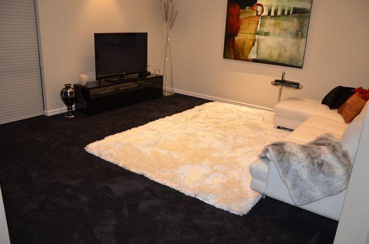 SmartStrand Silk. Silk Trends Carpet - Blackbean, living room.