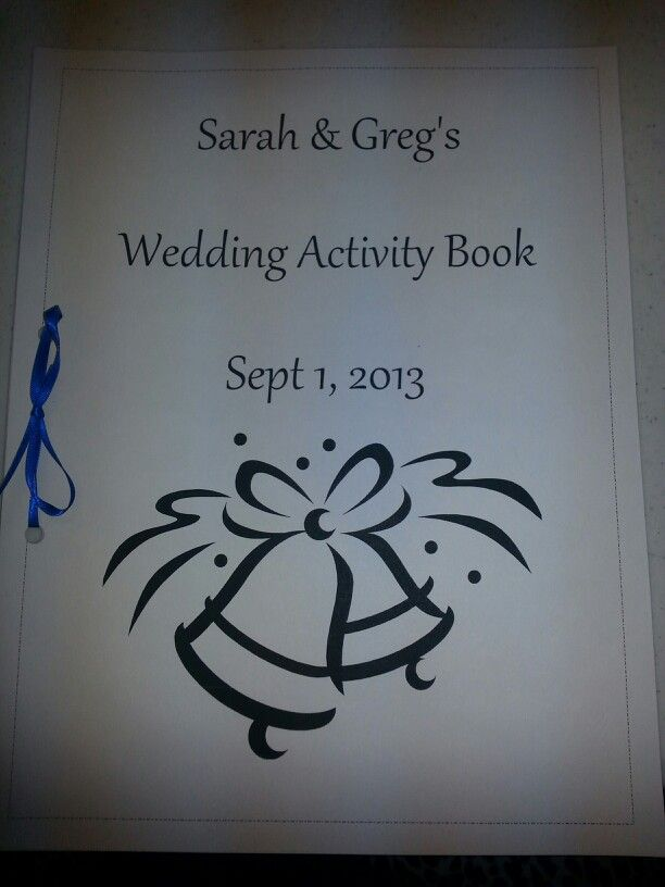 I made a coloring book for the kids at the reception. Used clip art and for the front and back covers , I used cardstock. Really easy affordable and fun for the kids. I bought a pack of crayons for each book.