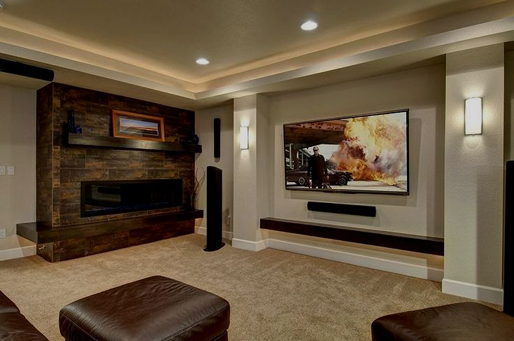 Basement Home Theater Are Significantly Usual Nowadays You Can Build It In Your Home For Your Ente Home Theater Seating Home Theater Wiring