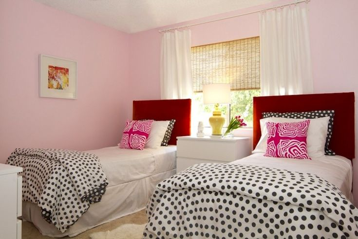 Turquoise La Super Cute Girly Pink And Red Bedroom With