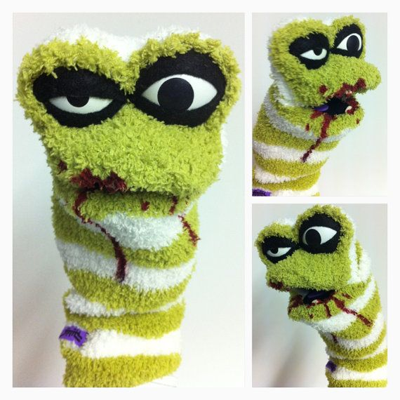 Zombie Sock Puppet $30.00.