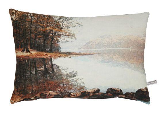 Red lake English Romantic cushion by chocolatecreative on Etsy