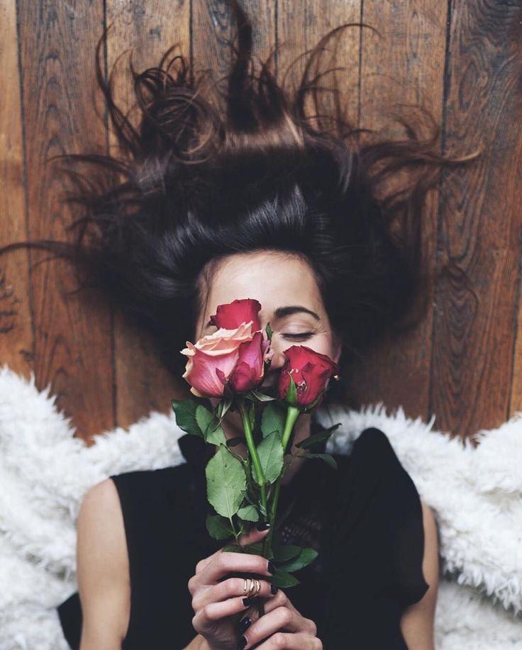 Fotos Tumblr fáceis de imitar no chão com flores