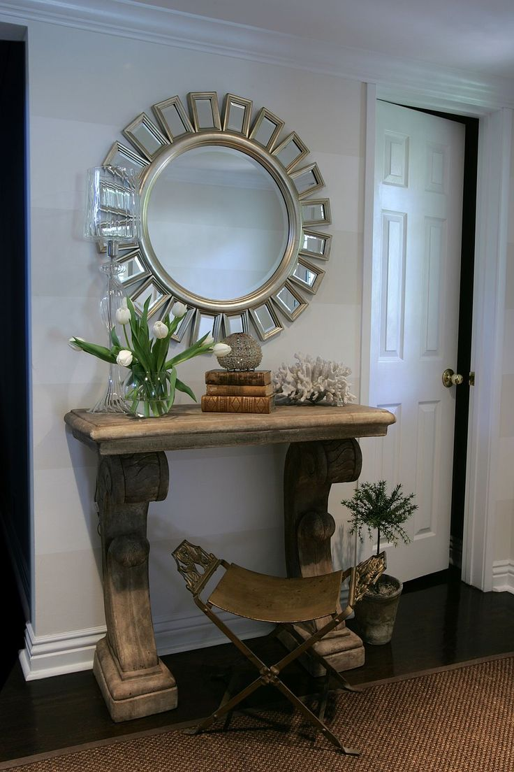 Designer michelleniday interiors creates a glamorous - Mirrors for decorating tables ...