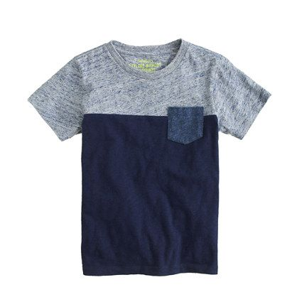 J.Crew - Boys' contrast pocket tee