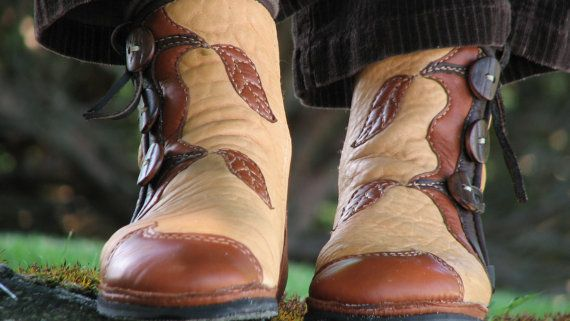 Custom Tree & Leaf Boots  Leather Boots Women  by SoulPathShoes, $360.00