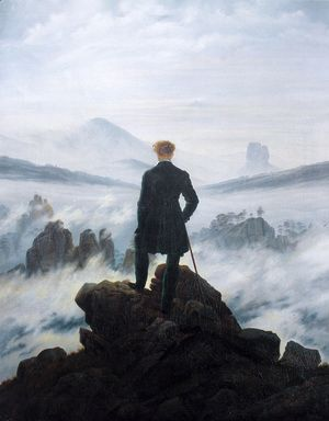 The Wanderer above the Mists 1817-18  Caspar David Friedrich