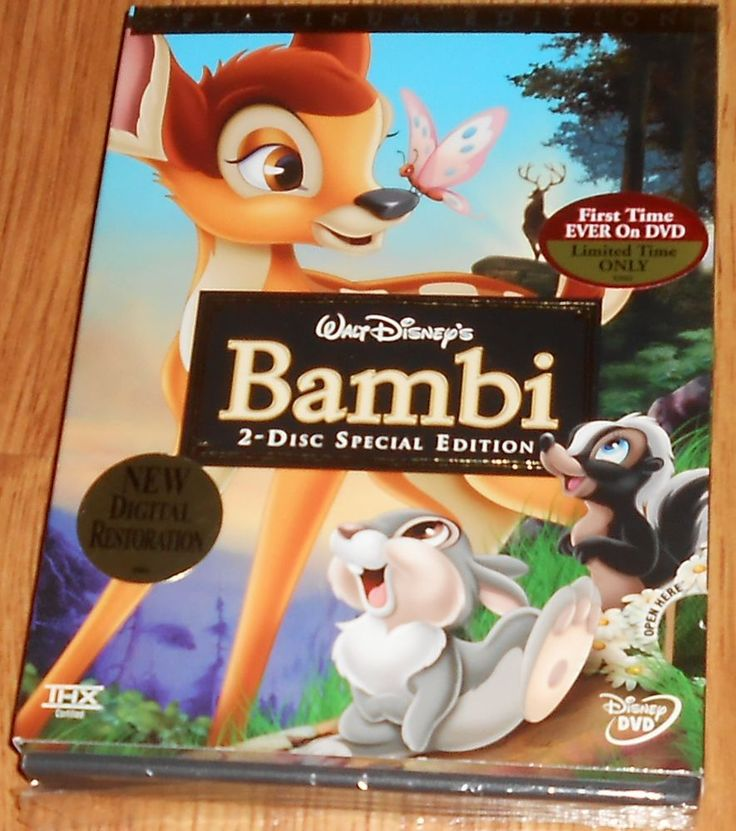 Bambi (DVD, 2005, 2-Disc Set, Special Edition/Platinum Edition Sealed Slip cover