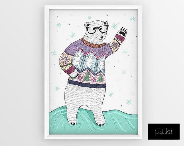 Plakat Bear 50 x 70