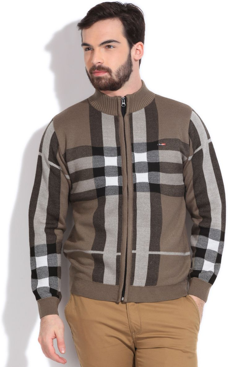 Integriti Checkered Round Neck Casual Men's Sweater #winter #jackets #checkered #fashion #integritifashion