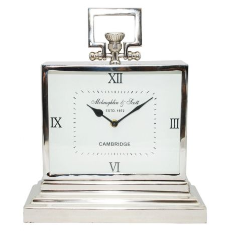 Metal Contemporary Table Clock - chunky!  http://www.cathyfrith.com/33,88,clocks-metal-contemporary-table-clock.html