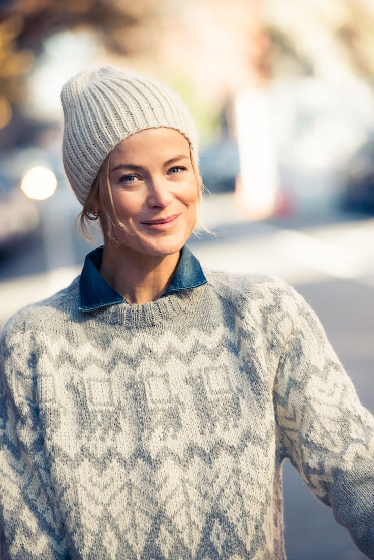 Carolyn Murphy | Hat, Shinola; Sweater, Industry of All Nations; Jumpsuit, 6397 Denim | The Coveteur