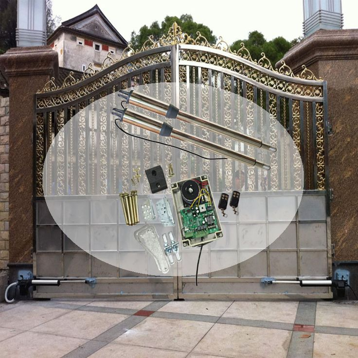 Driving Double-leaf Swing Gate Operator/Swing Gate Opener /with circuit board and 2pcs Remote control