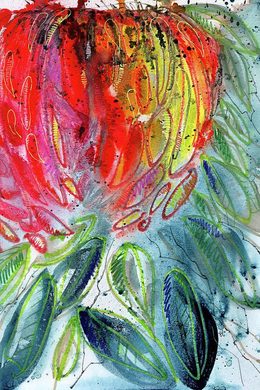 Chrysanthemum Poster featuring the painting Mum's The Word by Tonya Doughty