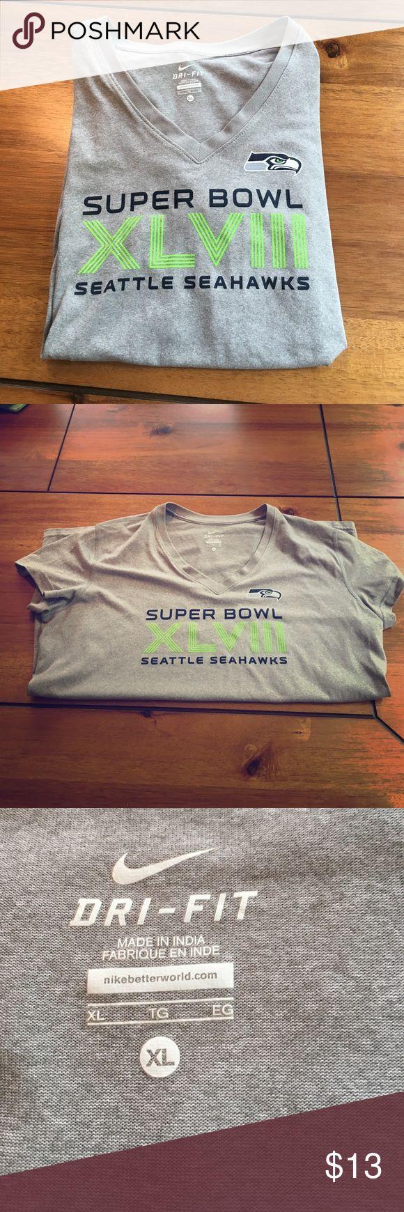 Nike Seahawks tee Dri-fit Seattle Seahawks Super Bowl tee Tops Tees - Short Sleeve