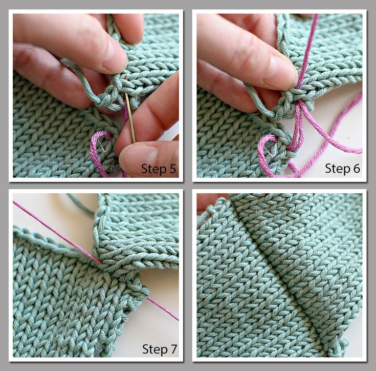 Knitting Help Russian Join : Best images about knitting joining seaming on