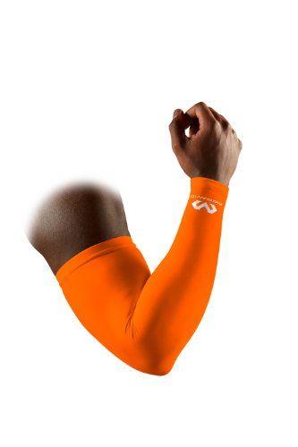 McDavid 656 Performance Compression Arm Sleeve, Orange, Small - http://ridingjerseys.com/mcdavid-656-performance-compression-arm-sleeve-orange-small/